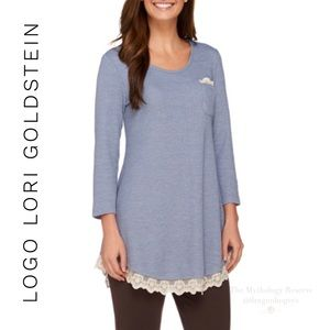 Logo by Lori Goldstein Knit Top